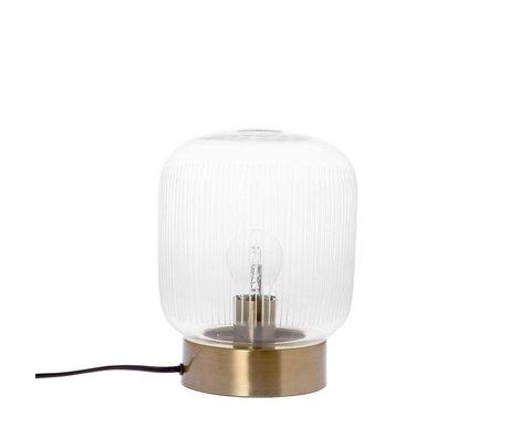 Riverdale Table lamp strip brass gold glass metal Ø20x25cm