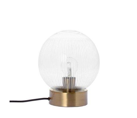 Riverdale Lampe de table bande de laiton laiton or verre métal Ø20x23,5cm