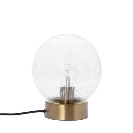 Riverdale Bordlampe messing messing guldglas metal Ø20x23,5cm