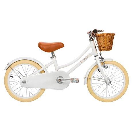 Banwood Bicicleta infantil clásica blanca 99,5x23,5x56cm.