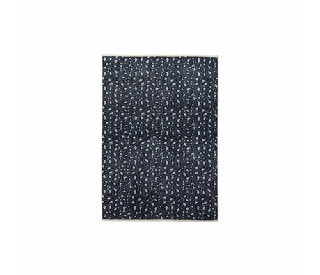 ESSENZA Tæppe Bory benzinblå polyester 60x90cm