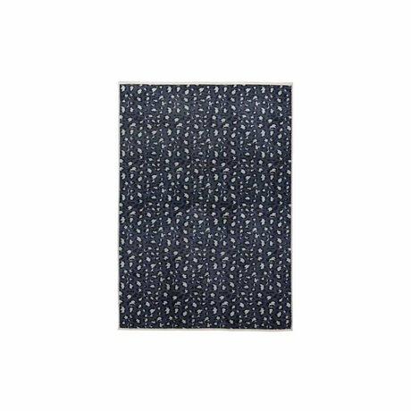 ESSENZA Teppich Bory petrol blau Polyester 60x90cm