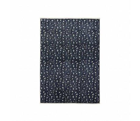 ESSENZA Tapis Bory bleu pétrole polyester 120x180cm