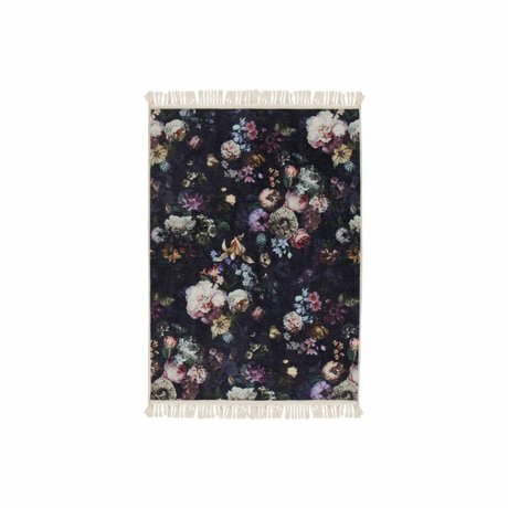 ESSENZA Carpet Fleur Night Blue Blue Polyester 60x90cm