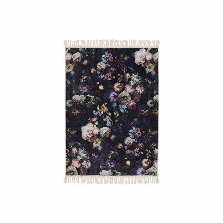 ESSENZA Teppich Fleur Nachtblau Blau Polyester 60x90cm