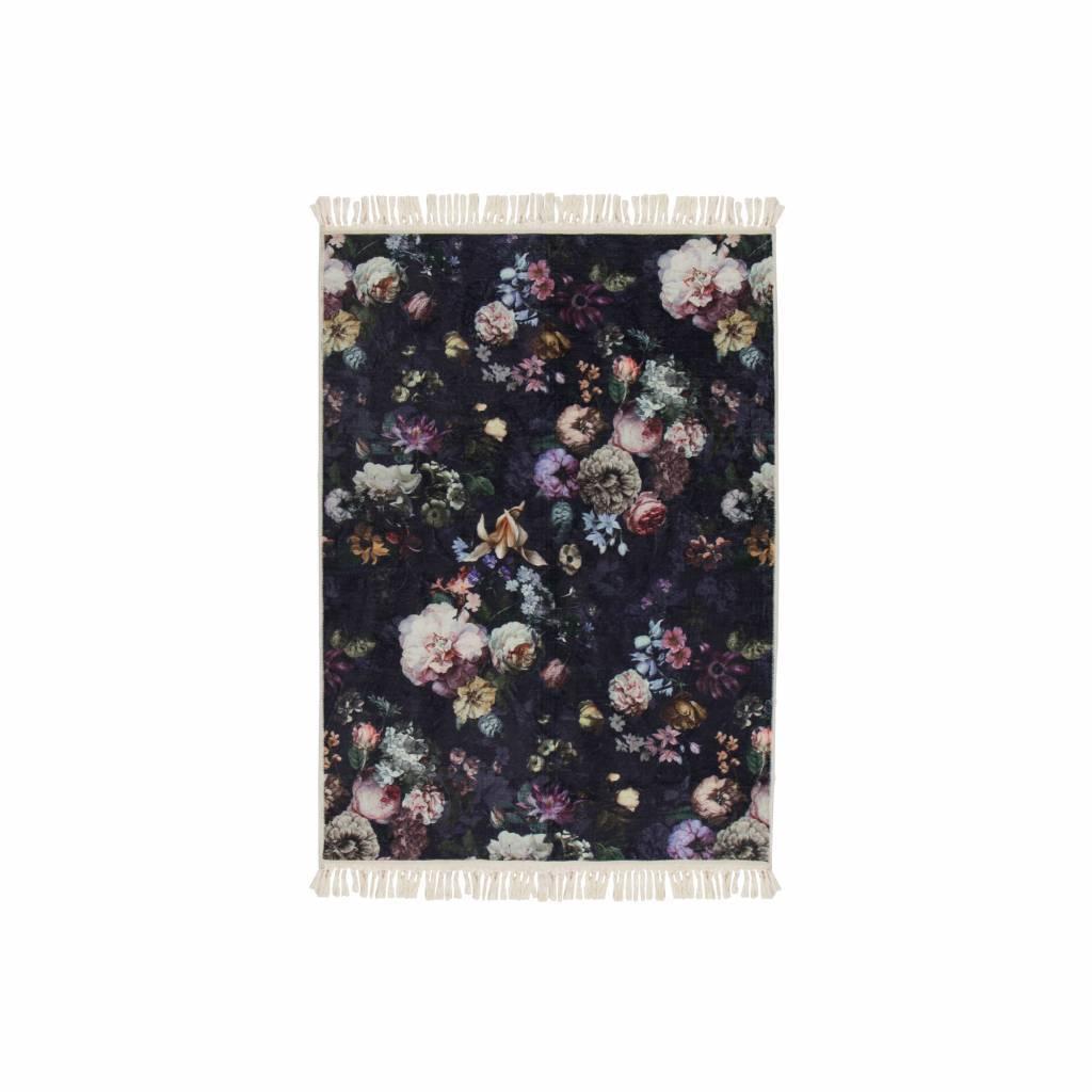 Essenza Tapis Fleur Night Bleu Bleu Polyester 60x90cm Lefliving Com