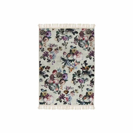 ESSENZA Tæppe Fleur Ecru Hvid Polyester 60x90cm