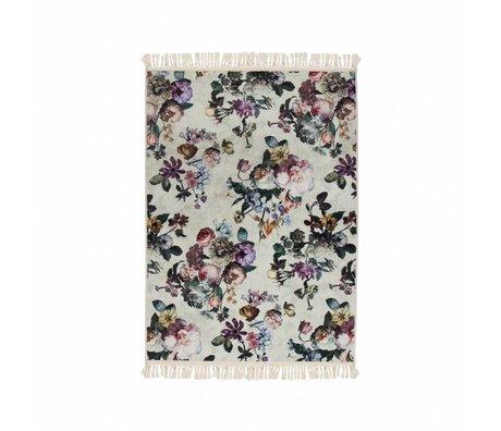 ESSENZA Tæppe Fleur Ecru hvid polyester 120x180cm