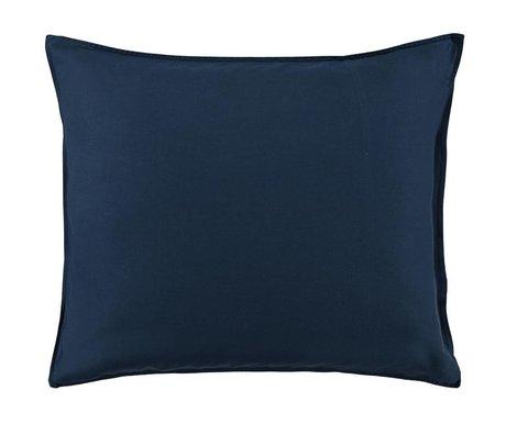 ESSENZA Housse de coussin Minte en satin de coton bleu marine 60x70cm