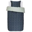 ESSENZA Bed linen Bory navy blue cotton satin 140x220 + 60x70cm