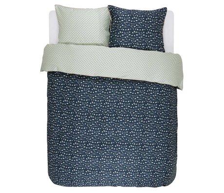 ESSENZA Ropa de cama Bory azul marino algodón satinado 200x220 + 2 / 60x70cm