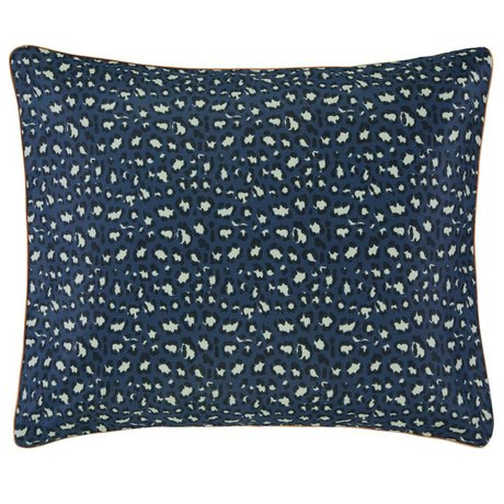 ESSENZA Cushion cover Bory navy blue cotton satin 60x70cm