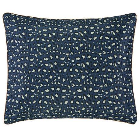 ESSENZA Cushion cover Bory navy blue cotton satin 60x70cm