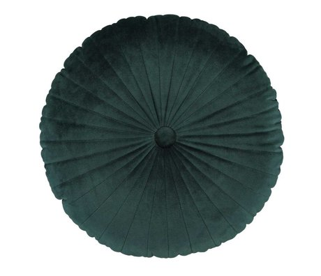 ESSENZA Cushion Naina round green velvet polyester ø40cm