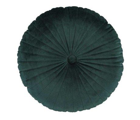 ESSENZA Pude Naina rund grøn sammet polyester ø40cm
