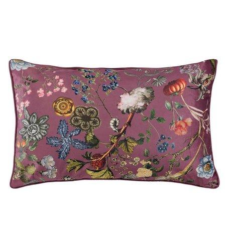 ESSENZA Cushion Xess Marsala red velvet polyester 30x50cm