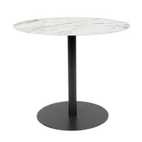 Zuiver Beistelltisch Schnee Oval Marmor schwarz Metall 42x31x40cm