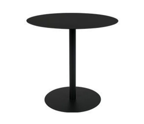 Zuiver Side table snow oval black metal 42x31x40cm