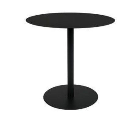 Zuiver Table d'appoint neige ovale métal noir 42x31x40cm