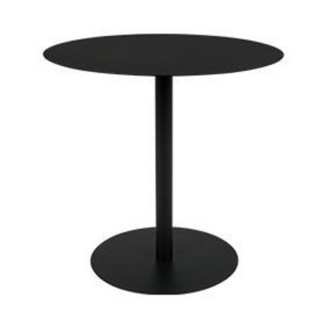 Zuiver Beistelltisch Schnee Oval schwarz Metall 42x31x40cm