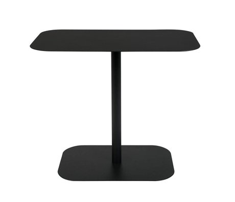 Zuiver Beistelltisch Schnee Rechteck schwarz Metall 50x30x42,5cm