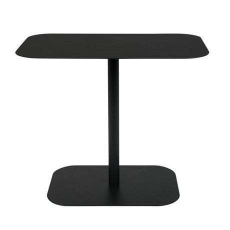 Zuiver Mesa auxiliar nieve rectangular negro metal 50x30x42,5cm