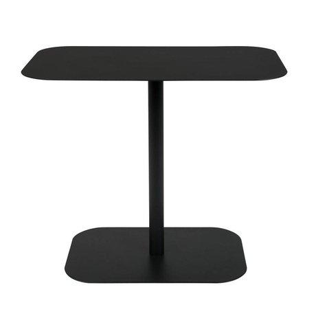 Zuiver Tavolino rettangolo da neve in metallo nero 50x30x42,5cm