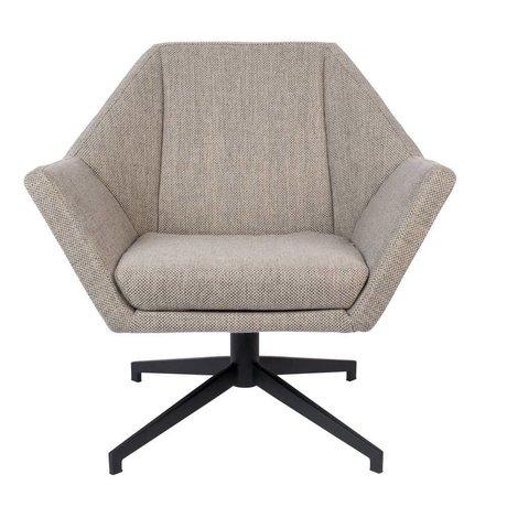 Zuiver Fauteuil Uncle Jesse sable brun gris textile textile 76x68x76cm
