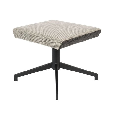 Zuiver Stool Uncle Jesse sand brown gray textile metal 50x44x43cm