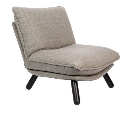 Zuiver Sessel Lazy Sack hellgrau Textilholz 75x94x81cm