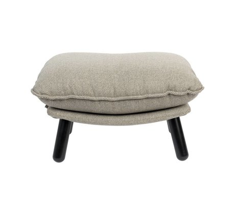 Zuiver Taburete Lazy Sack gris claro textil madera 78x52x46cm