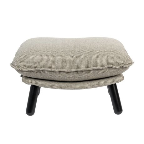 Zuiver Stool Lazy Sack light gray textile wood 78x52x46cm