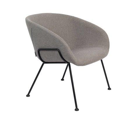 Zuiver Lænestol Feston Fab grå sort polyester stål 70,5x65,5x72cm
