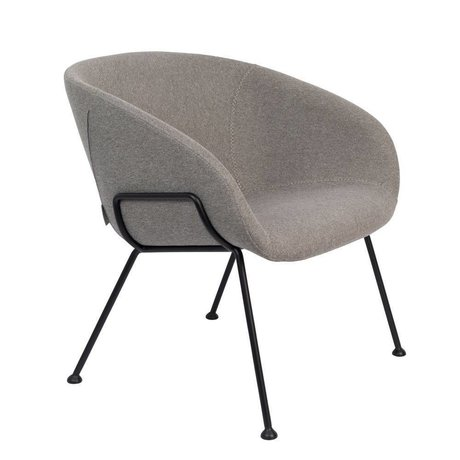 Zuiver Armchair Feston Fab gray black polyester steel 70,5x65,5x72cm