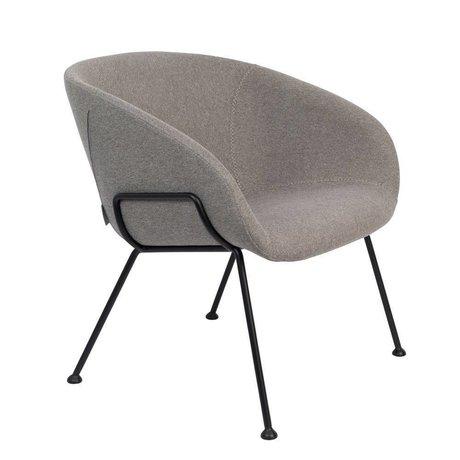 Zuiver Armchair Feston Fab gray black polyester steel 70,5x65,5x72cm