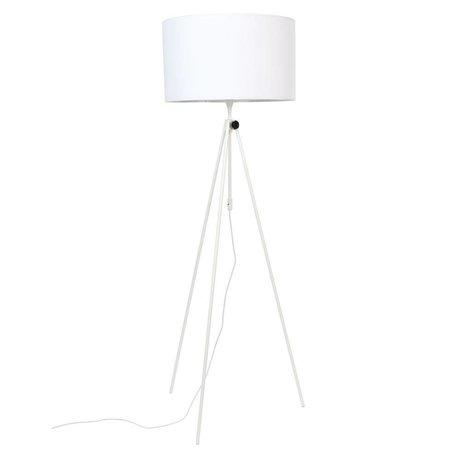 Zuiver Lampada da terra Lesley in metallo bianco tessile Ø50x153 / 181cm
