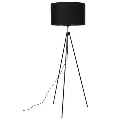 Zuiver Lampada da terra Lesley in metallo tessuto nero Ø50x153 / 181cm