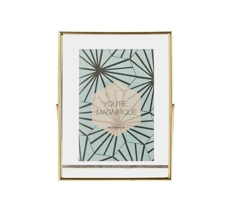 Riverdale Photo frame Shelton Gold metal 13x18cm