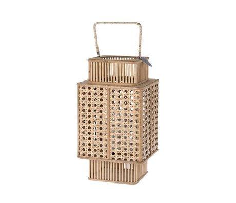 Riverdale Lantern urban brown bamboo 44cm