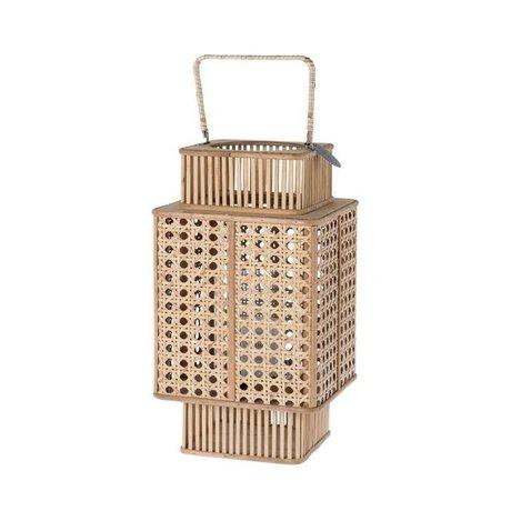 Riverdale Lantern urban brun bambus 44cm
