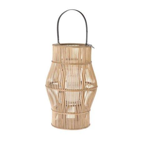 Riverdale Lanterna urbana marrone bambù 50cm