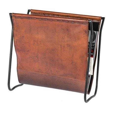 Riverdale Magazine holder Tulsa brown leather 28x36cm