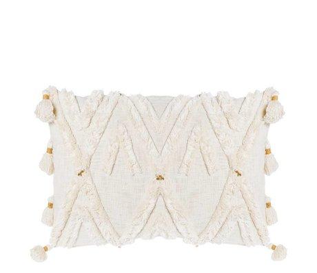 Riverdale Cuscino Ibiza in cotone bianco 50x70cm