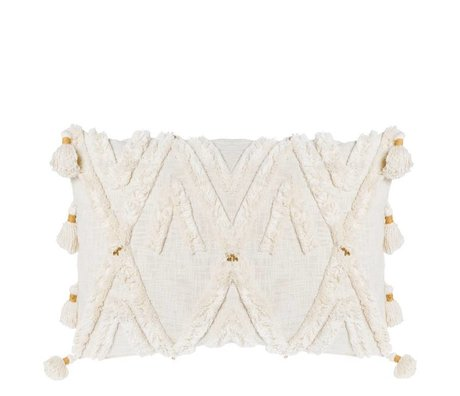 Riverdale Cushion Ibiza cream white cotton 50x70cm