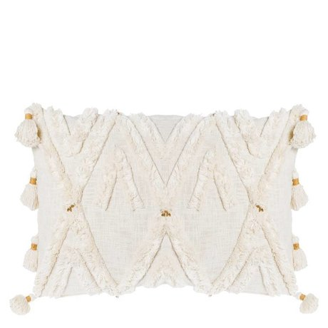 Riverdale Coussin Ibiza coton blanc crème 50x70cm