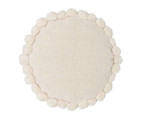 Riverdale Kissen Ibiza rund creme weiß Baumwolle ø50cm