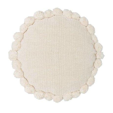 Riverdale Pude Ibiza runde creme hvid bomuld ø50cm
