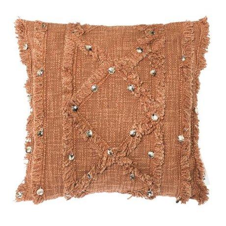 Riverdale Cushion Rusty terra brown cotton 45x45cm