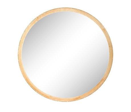 Riverdale Miroir Elano rond en métal doré ø49cm
