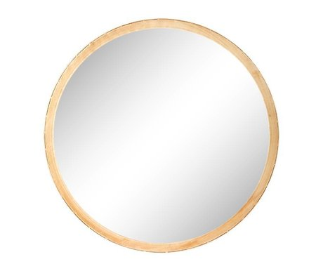 Riverdale Specchio Elano rotondo in metallo oro ø49cm